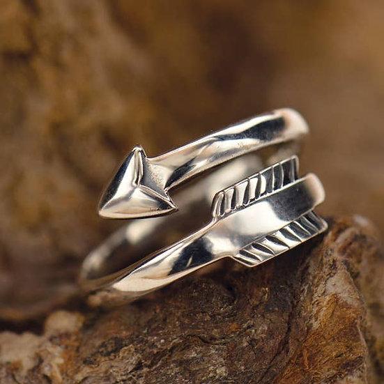 Sterling Silver Arrow Adjustable Ring