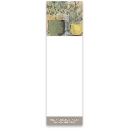 Magnetic Notepad - Grow Through What You Go Through