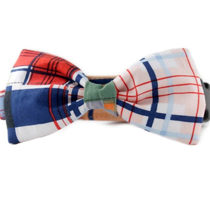 Mad About Plaid Bow Tie Collar - Small