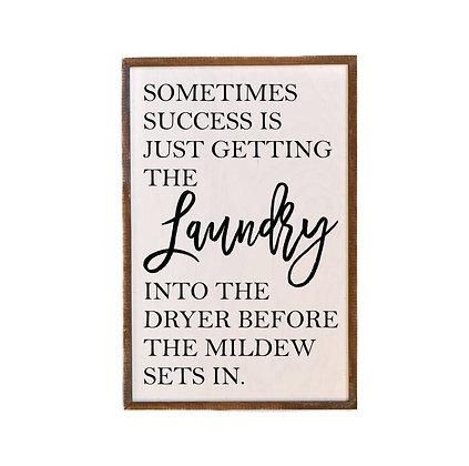 Wall Art - Laundry Success 18x12