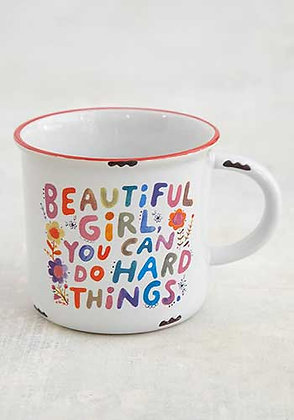 Mug - Beautiful girl you can do hard things