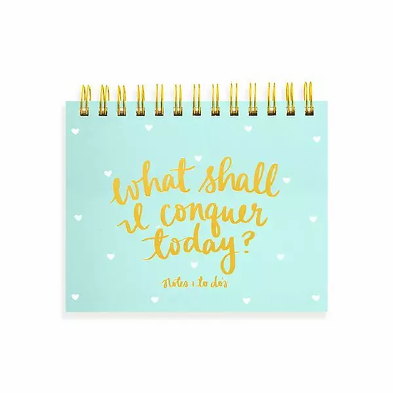 Spiral Planner Pad - What Shall I Conquer Today