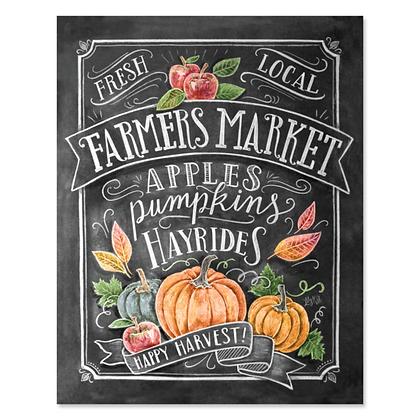 Chalk Art 8x10 Fall Farmer's Market