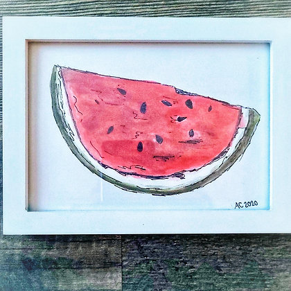 Framed Watercolor Print 5x7 - Juicy
