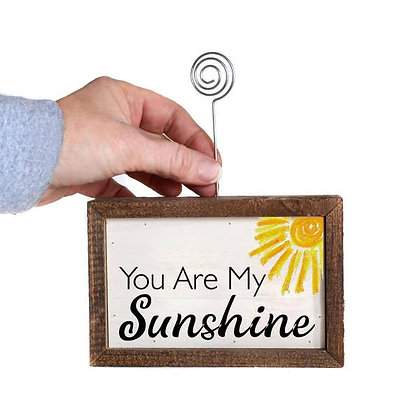 Tabletop Picture Frame Block - You Are My Sunshine