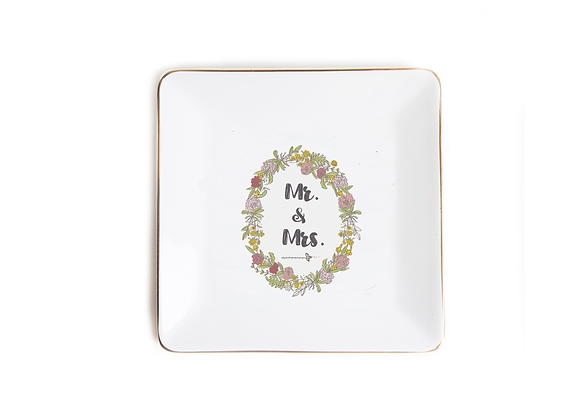 Trinket Dish - Mr & Mrs