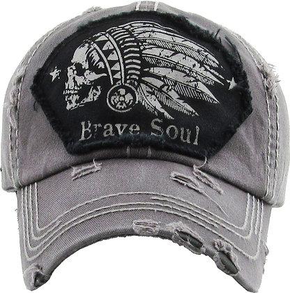 Hat - Brave Soul (Distressed Gray)