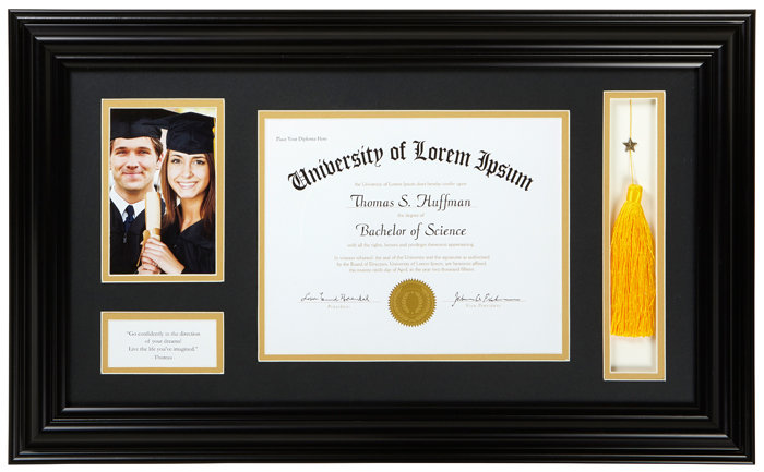 """Thoreau - 25"""" x 14.75"""" Graduation Frame"""