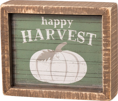 Inset Box Sign - Happy Harvest