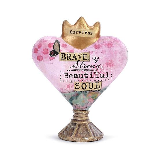 Brave Soul Heart Sculpture