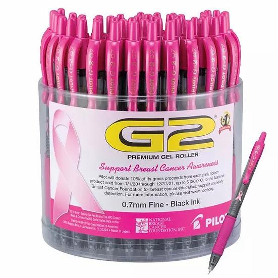 Pilot G2 Breast Cancer Awareness Gel Roller Pens