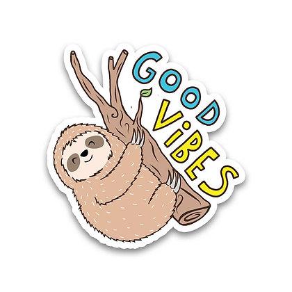 Sticker - Good Vibes Sloth
