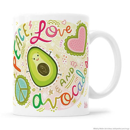 Mug - Peace, Love And Avocado