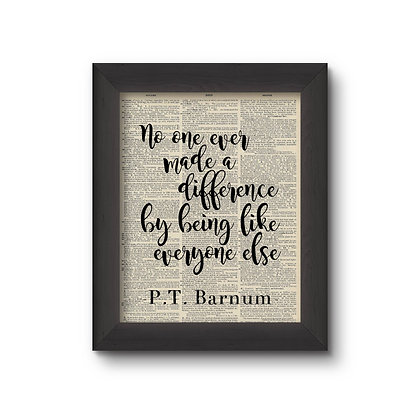 No One Ever Made A Difference 5X7