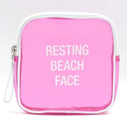 Makeup Bag - Resting Beach Face