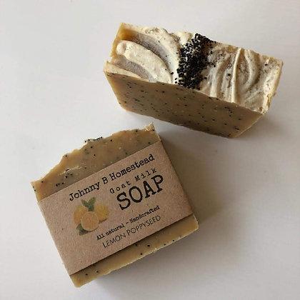 Goat Milk Soap - Lemon Poppyseed