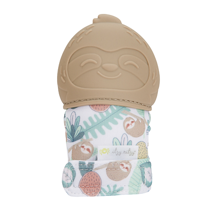 Itzy Mitt™ Silicone Teething Mitts - Sloth