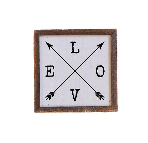 Wall Art - Love Arrows 6x6