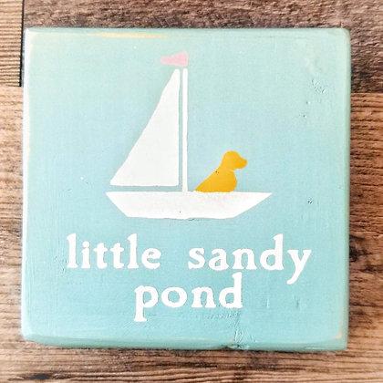 Little Sandy Pond Shelf Sitter 5x5