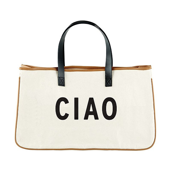 Canvas & Leather Tote -Ciao