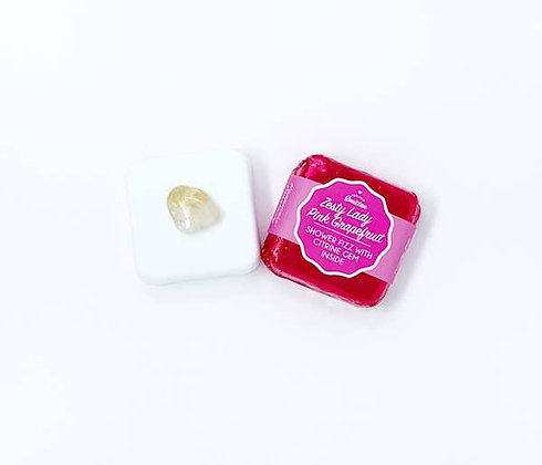 Shower Fizz with Crystal - Zesty Lady Pink Grapefruit