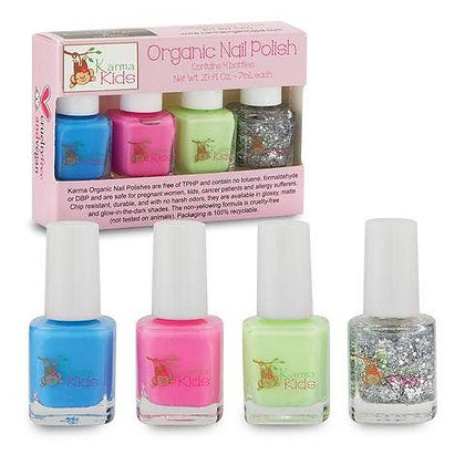 Karma Kids Organic Nail Polish Set - Bright & Sparkly