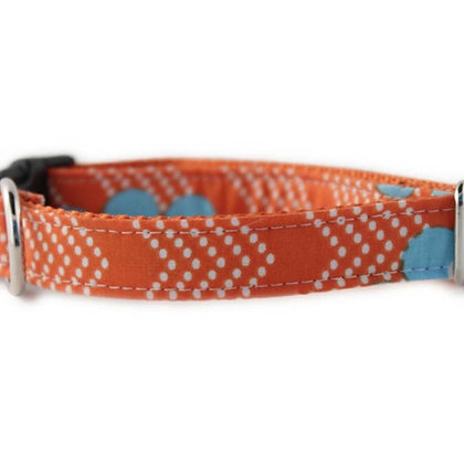 Orange Splash Dog Collar - Medium