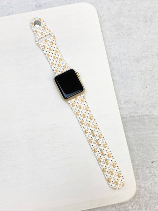 Bee Print Silicone Smart Watch Band - (S/M or M/L)