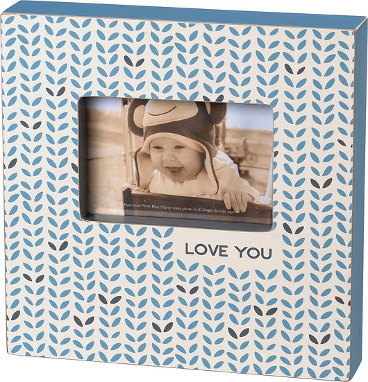 Box Frame - Love You (Blue)