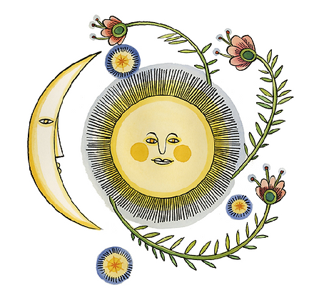 Artists to Watch Vinyl Sticker - Moon & Sun