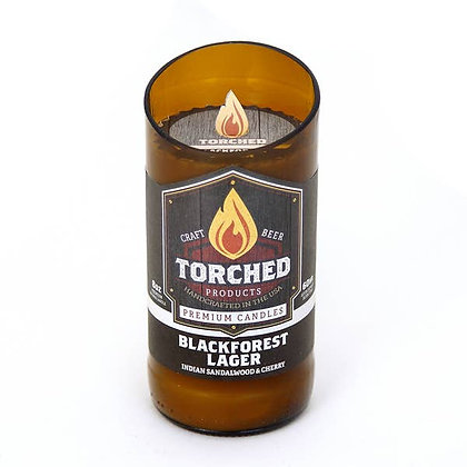 Torched Beer Bottle Candle 8 oz - Blackforest Lager