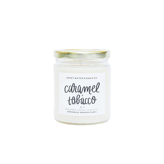 Caramel Tobacco Soy Candle