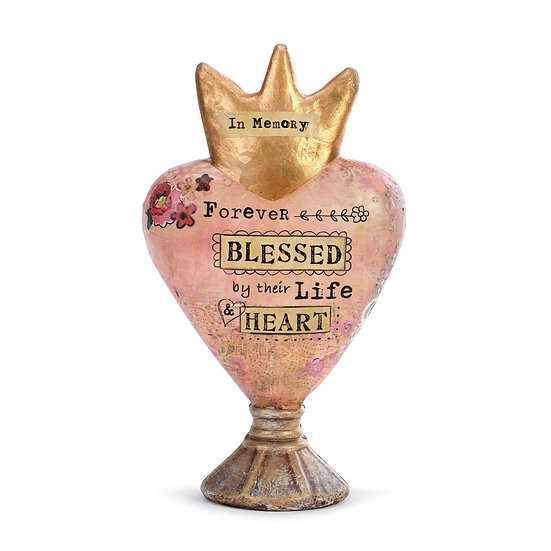 Forever Blessed Heart Sculpture