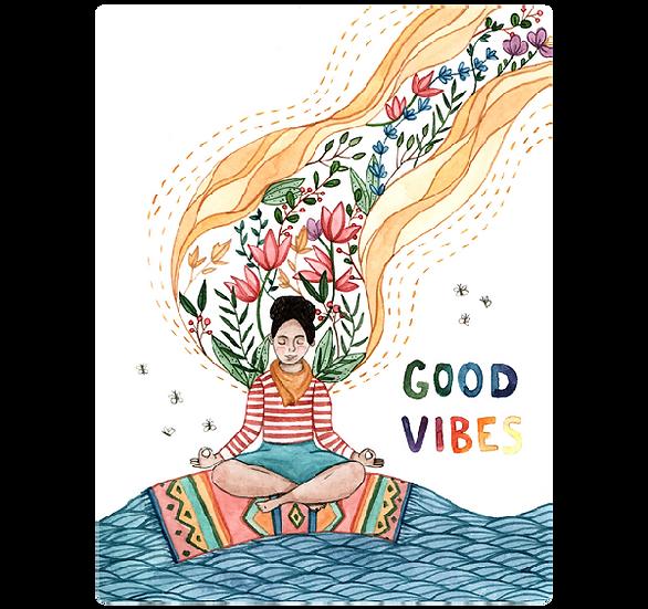Artists to Watch Vinyl Sticker - Good Vibes