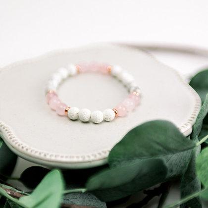 Diffuser Bracelet - Rose Quartz