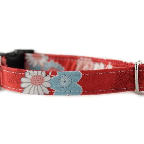 Azalea in Red Dog Collar - Large