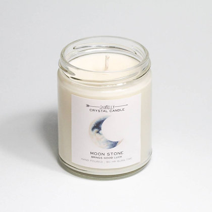 Crystal Candle - Moon Stone (Good Luck)