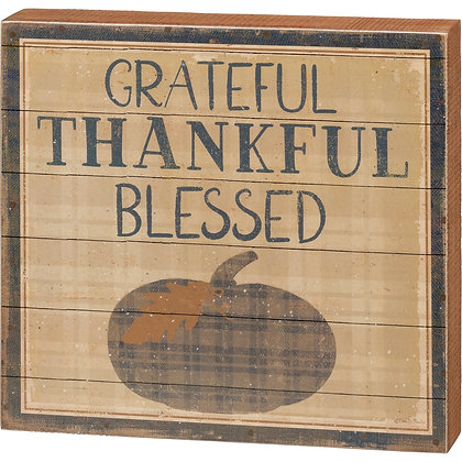 Box Sign - Grateful