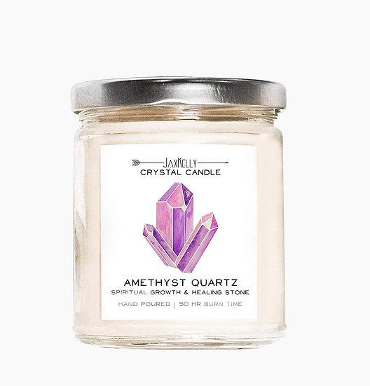 Crystal Candle - Amethyst Quartz (Spiritual Growth & Healing)