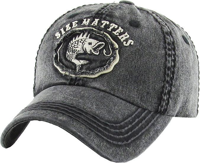 Size Matters Vintage Ballcap (Black)