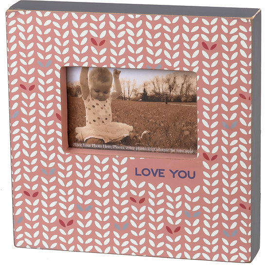 Box Frame - Love You (Pink)