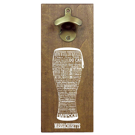 Craft Beer Typography Cap Catching Magnetic Bottle Opener
