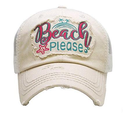 Hat - Beach Please (Stone)