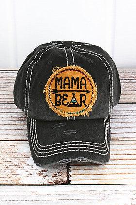 Hat - Mama Bear (Distressed Black)