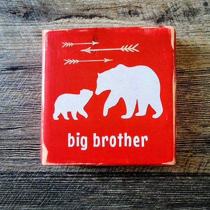 Big Brother Bear Shelf Sitter - 5x5