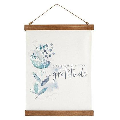 Wall décor - Canvas Banner  - Gratitude