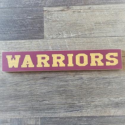 Shelf Sitter - Warriors 15x2.5