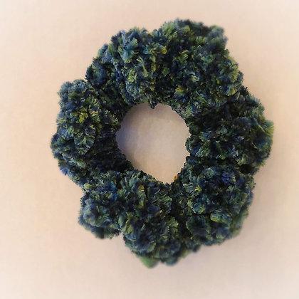 Crocheted scrunchie - forest