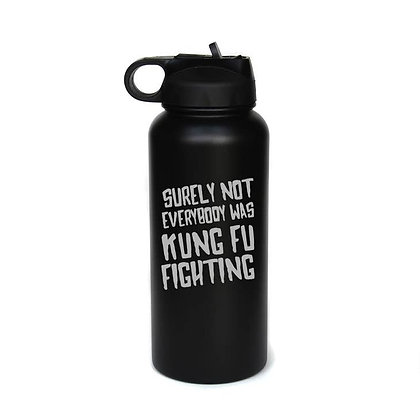 32 oz. Engraved Water Bottle - Kung Fu Fighting