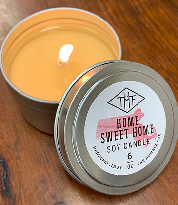 Soy Candle - Home Sweet Home MA 6oz tin